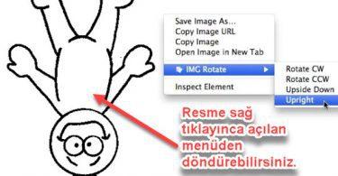 Chrome İçin Web Sayfasındaki Resmi Döndürme Eklentisi