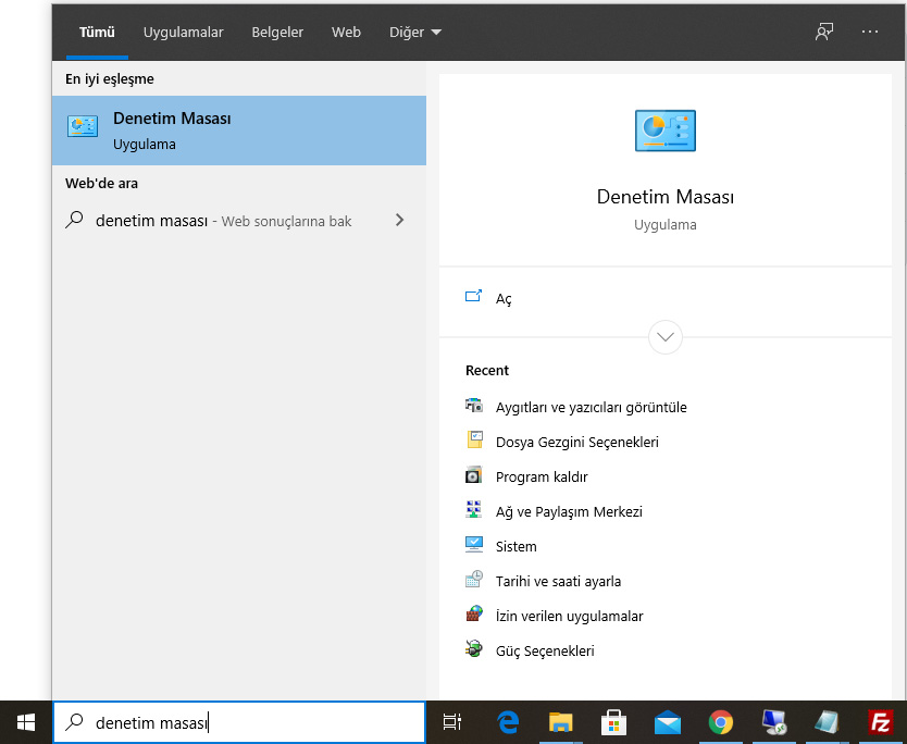 Denetim Masası Bulma Windows. Windows 10'da Denetim Masası Nerededir ?