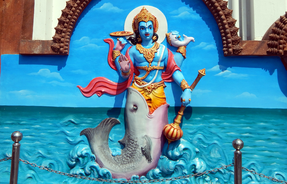 Hint Tanrısı Vişnu, özellikle destanlarda geçen biçimiyle..