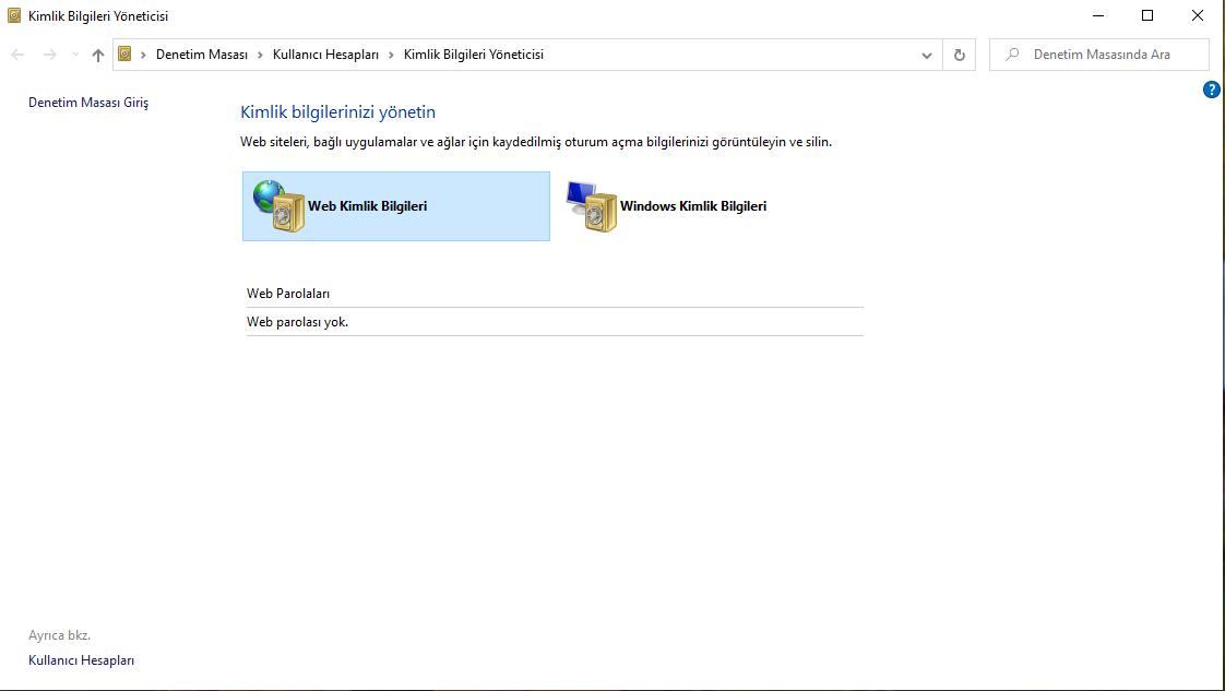 Windows 10'da Kayıtlı Şifreleri Görme