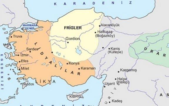 Anadolu Uygarlıkları: Frigler
